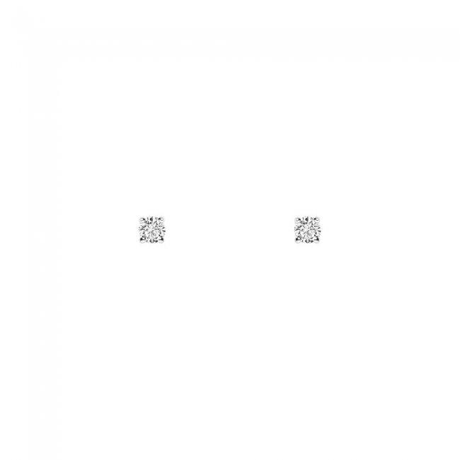 Cercei Studs cu diamante albe 18 kt, 0.27 ct
